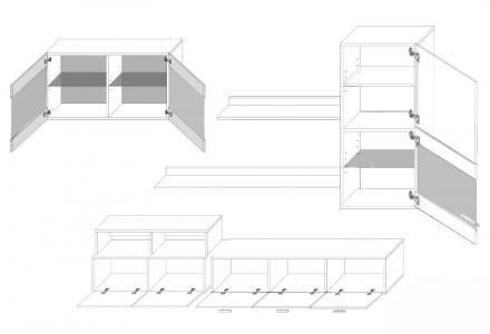Moderní obývací stěna Logo 2